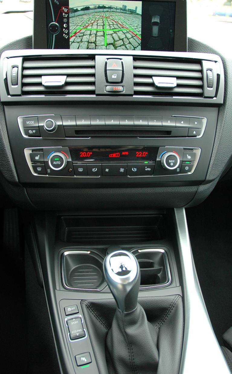 BMW 1er: Blick auf den mittleren Armaturenträger.