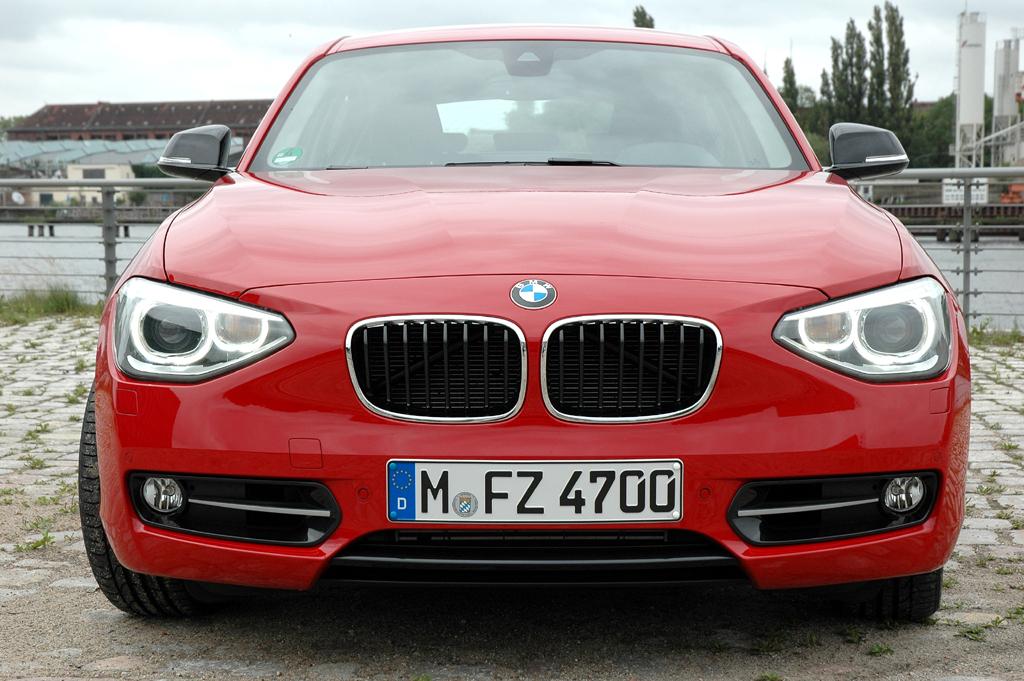 BMW 1er: Blick auf die Frontpartie des deutlich gereifteren Fünftürers.