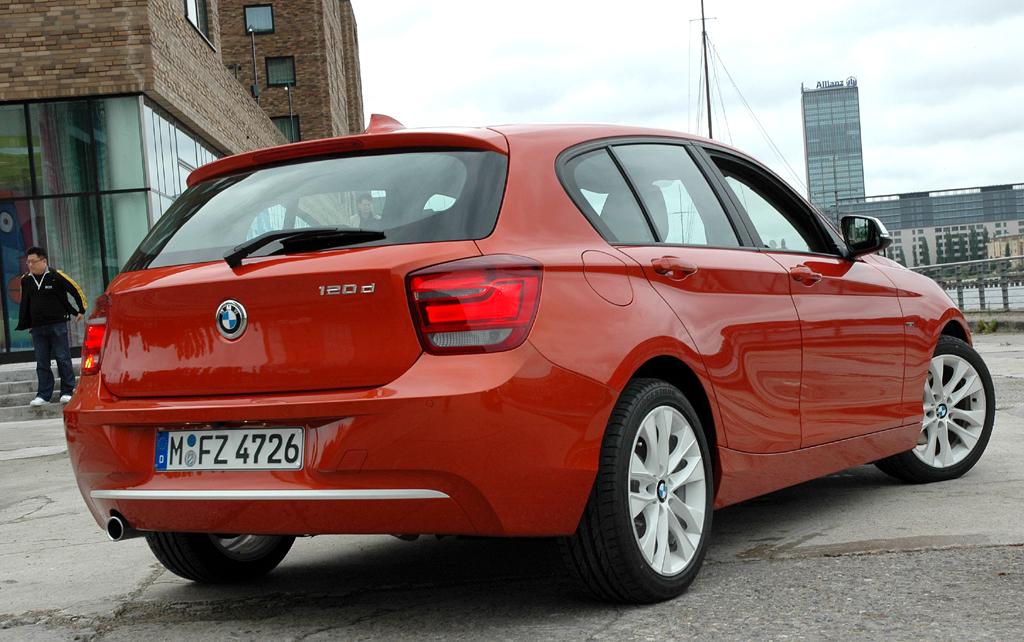 BMW 1er: Heck-/Seitenansicht des Urban Linie.