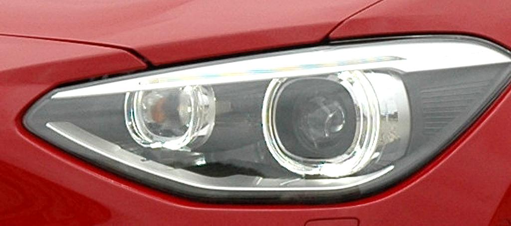 BMW 1er: Moderne Leuchteinheit vorn.