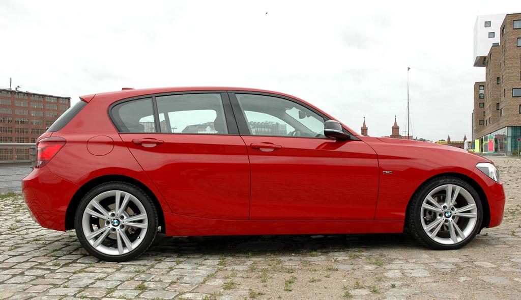 BMW 1er: Und so sieht der gewachsene Fünftürer von der Seite aus.