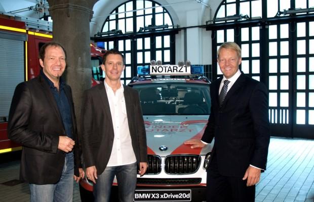 BMW X3 als Einsatzwagen für den Kindernotarztdienst in München