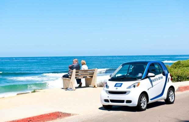 Car2go mit Elektroautos in San Diego