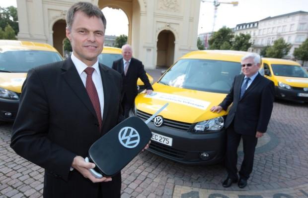 DHL testet Volkswagen Caddy Blue-E-Motion