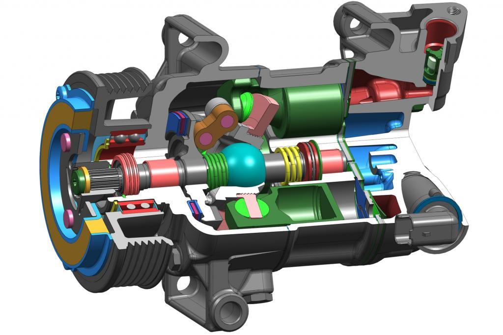 Der neue Klimakompressor von Delphi soll deutlich effizienter sein als seine Vorgänger