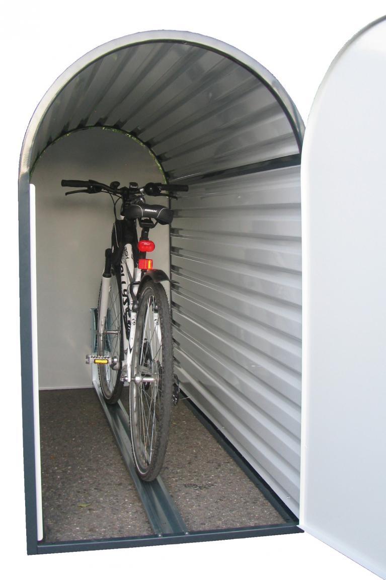 Die BikeBox 3 gibt dem Fahrrad ein Zuhause.