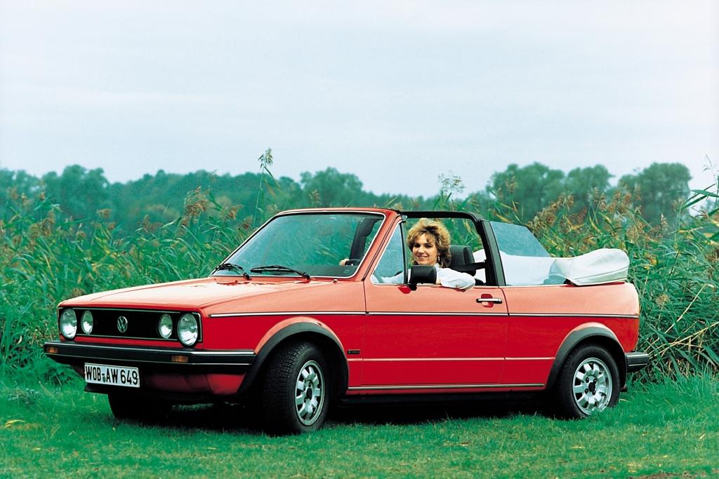 Erdbeerkörbchen - das VW Golf Cabrio.