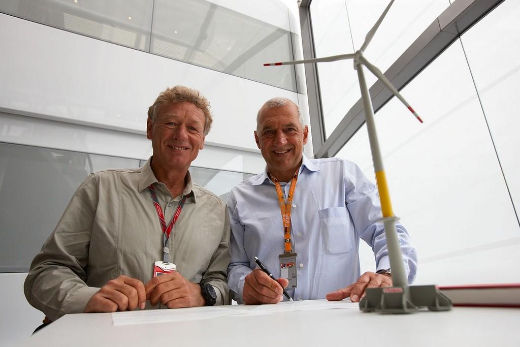 Hermann Tilke (links) und Willi Balz.