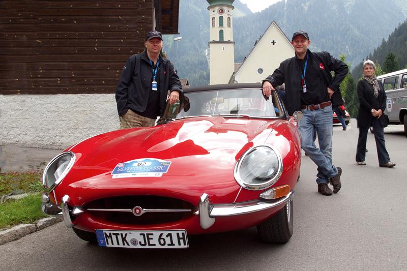 Jan Broer und Jürgen Vogel bei der Silvretta.