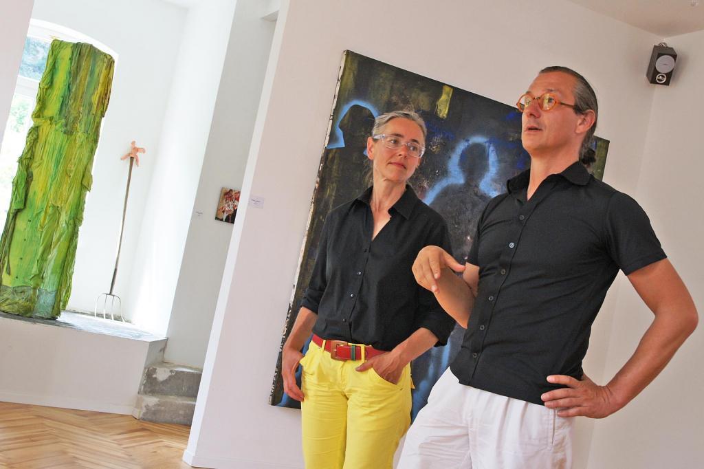 Karin und Wolfram Renger in ihrem Atelier