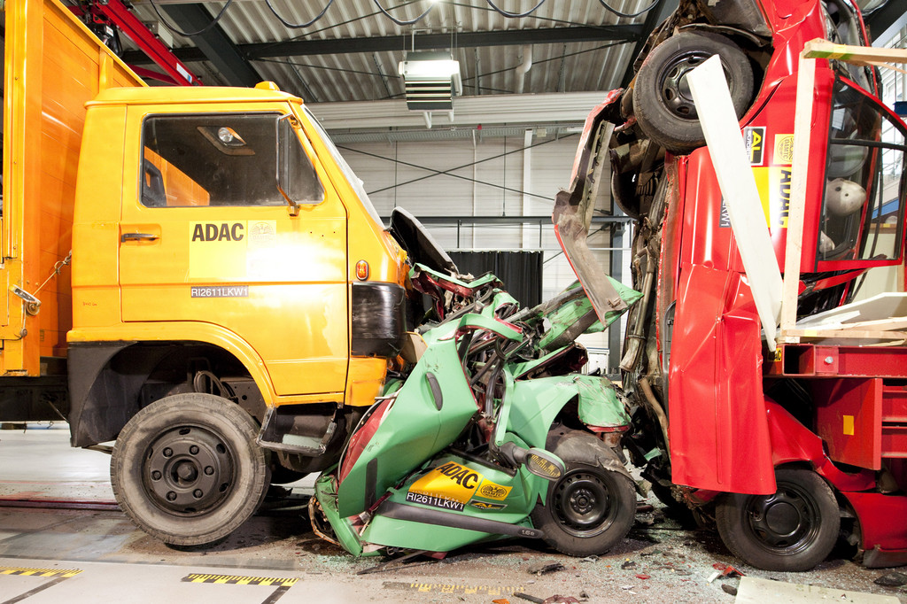 LKW-Crashtest.
