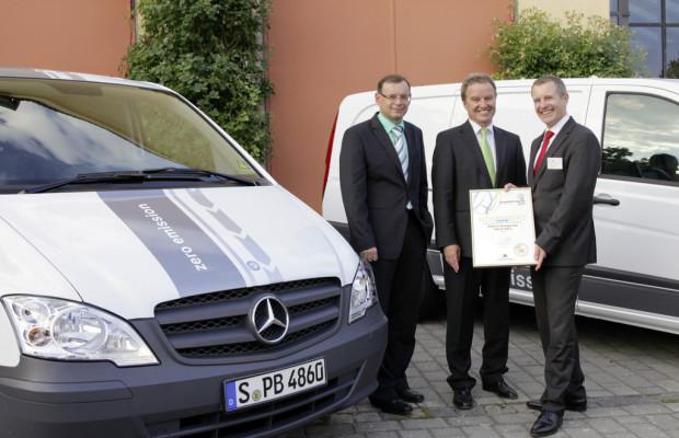 Mercedes-Benz Vito E-Cell für Umwelttechnik ausgezeichnet