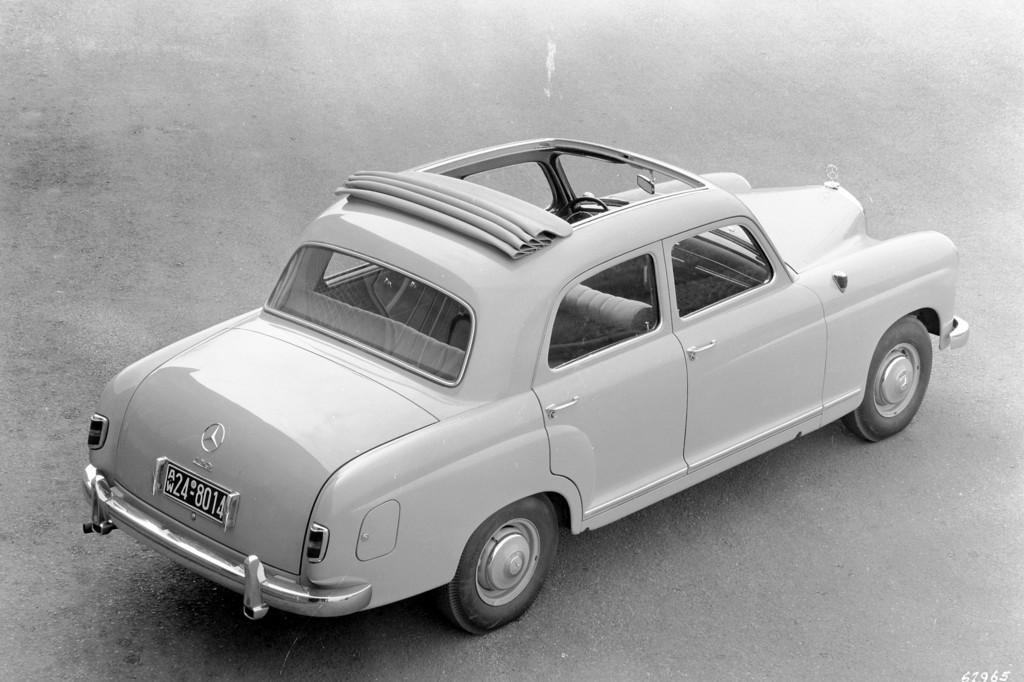 Mercedes-Benz bei den Schloss Dyck Classic Days: Mercedes-Benz 180 der Baureihe W 120 (1953 bis 1962).