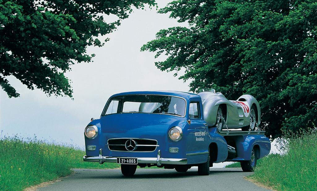 Mercedes-Benz bei den Schloss Dyck Classic Days: Mercedes-Benz Renntransporter von 1954/55,
