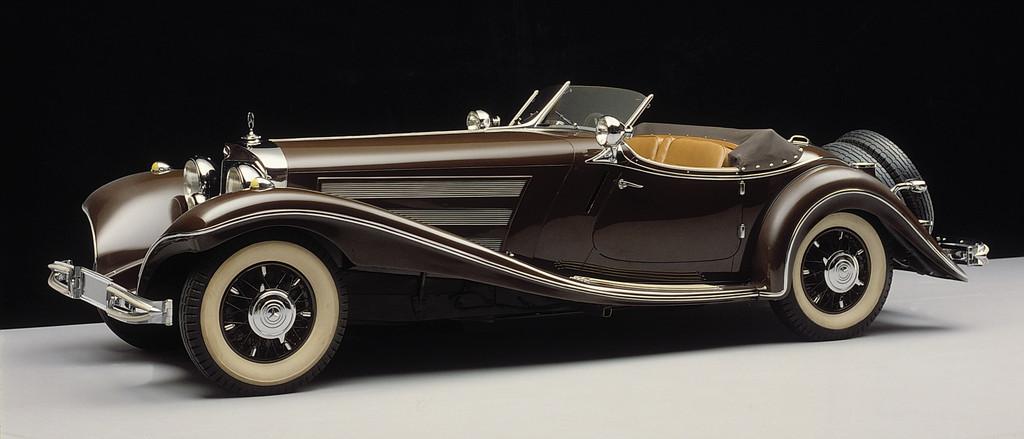 Mercedes-Benz bei den Schloss Dyck Classic Days: Mercedes-Benz Typ 500 K (Baureihe W 29, 1934 bis 1936) in der Ausführung als Luxus-Roadster, Baujahr 1936.