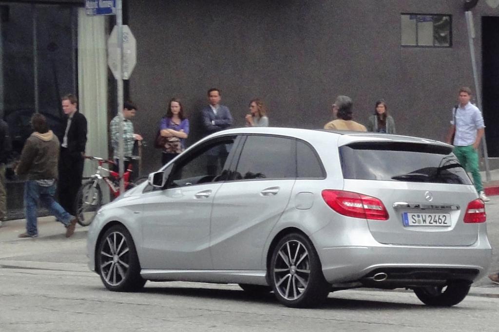 Mercedes ist mit der neuen B-Klasse vertreten