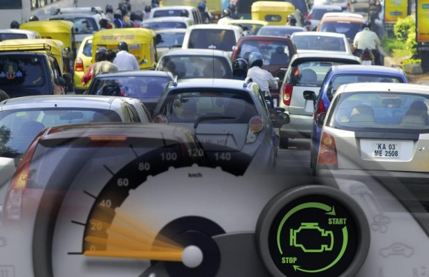 Staus und stockender Verkehr in Europas Städten