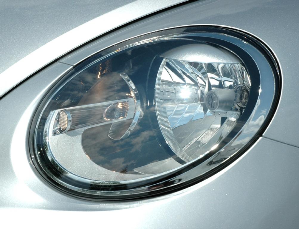 VW Beetle: Moderne Leuchteinheit vorn.
