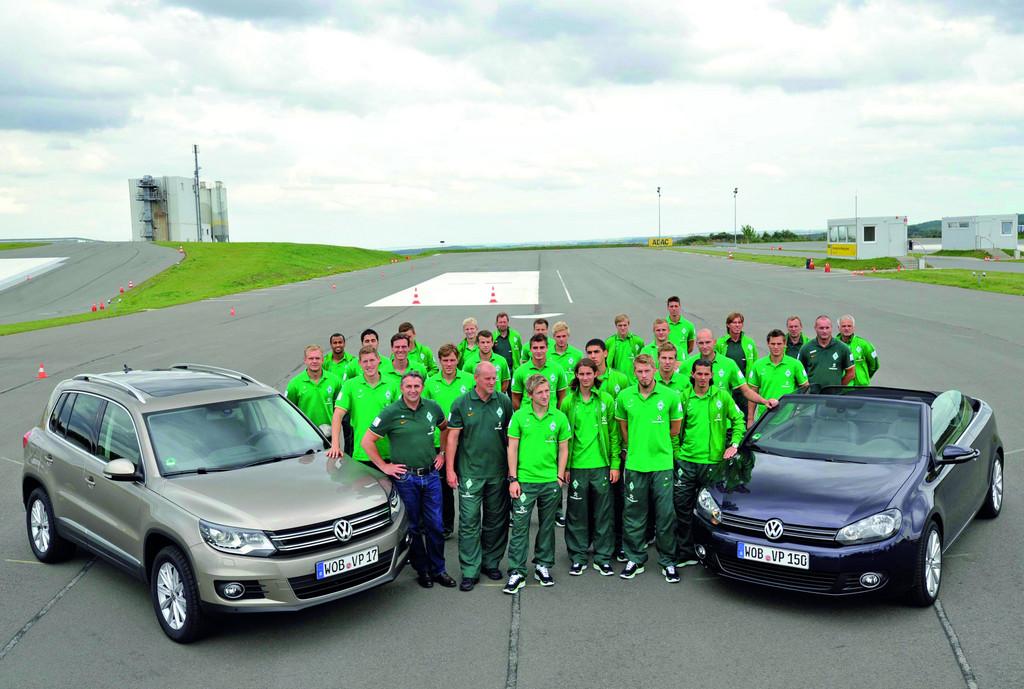 Volkswagen trainiert die Profis vom SV Werder Bremen