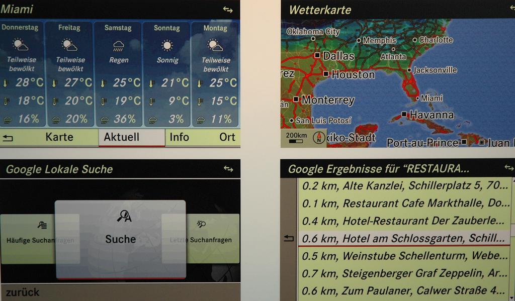 Was Sie wünschen I: Miami, Wetterkarte, lokale Suche, Restaurants ...