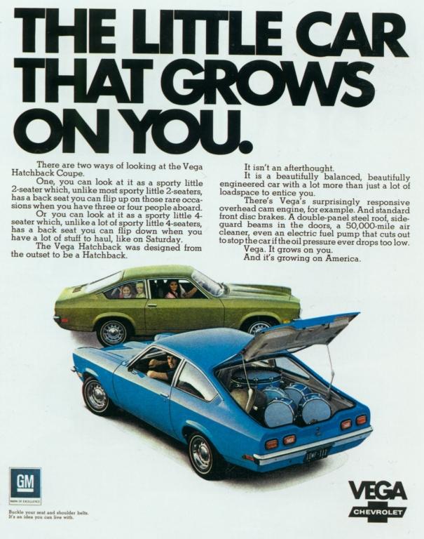 Werbung für den Chevrolet Vega aus dem jahr 1971.