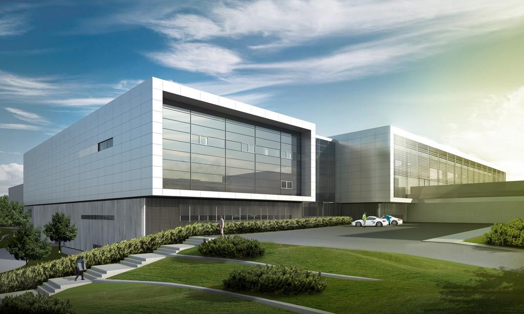 Werkserweiterung vom Porsche-Entwicklungszentrum Weissach.