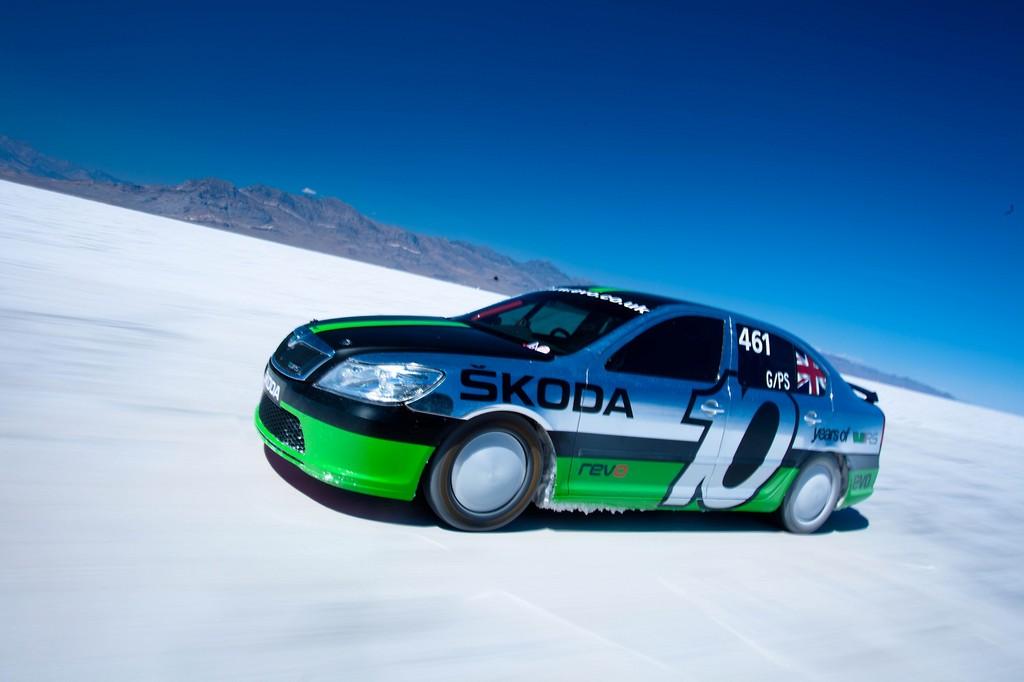 Škoda Octavia erreicht 365 km/h
