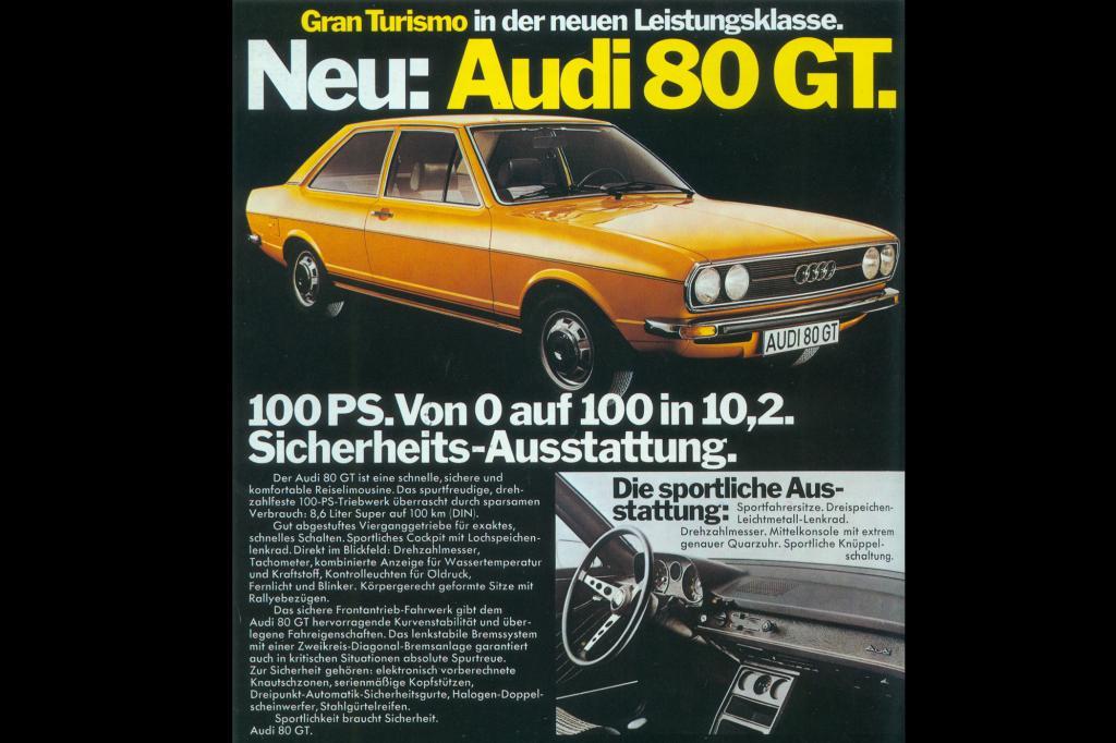 1973 kam der extra sportliche Audi 80 GT