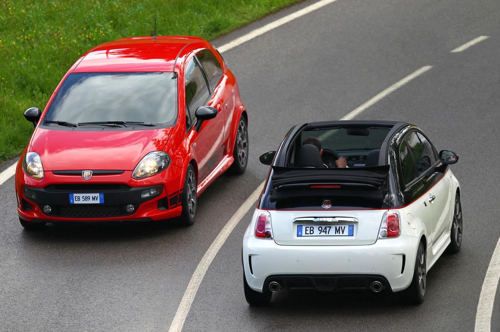 Abarth zeigt beim Oldtimer-Grand-Prix drei aktuelle Modelle