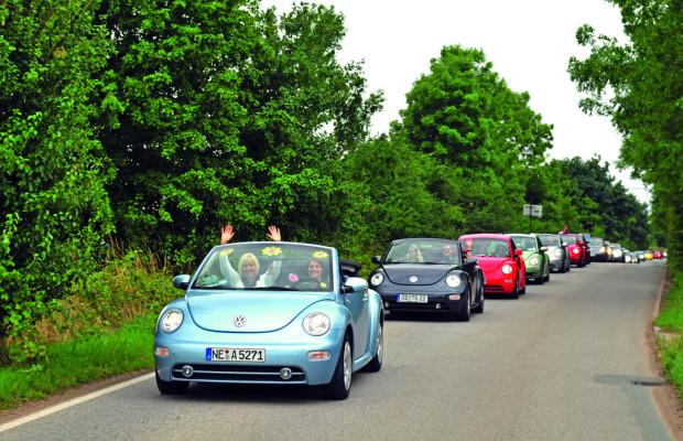 Auch der neue Volkswagen Beetle kommt zur Sunshinetour