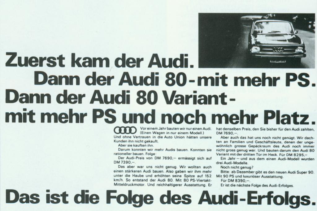 Audi war wirklich stolz auf sein neues Modell