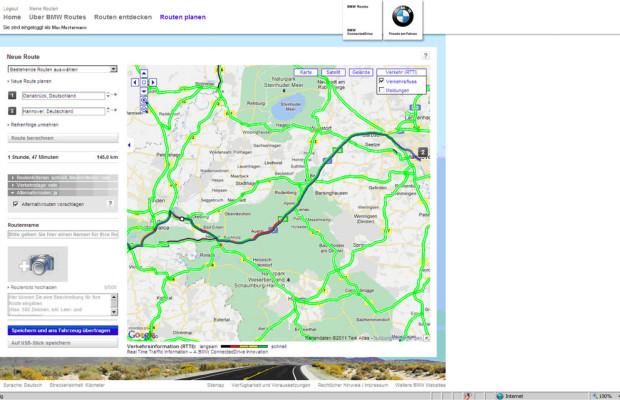 BMW Connected Drive: RTTI jetzt auch im Internet