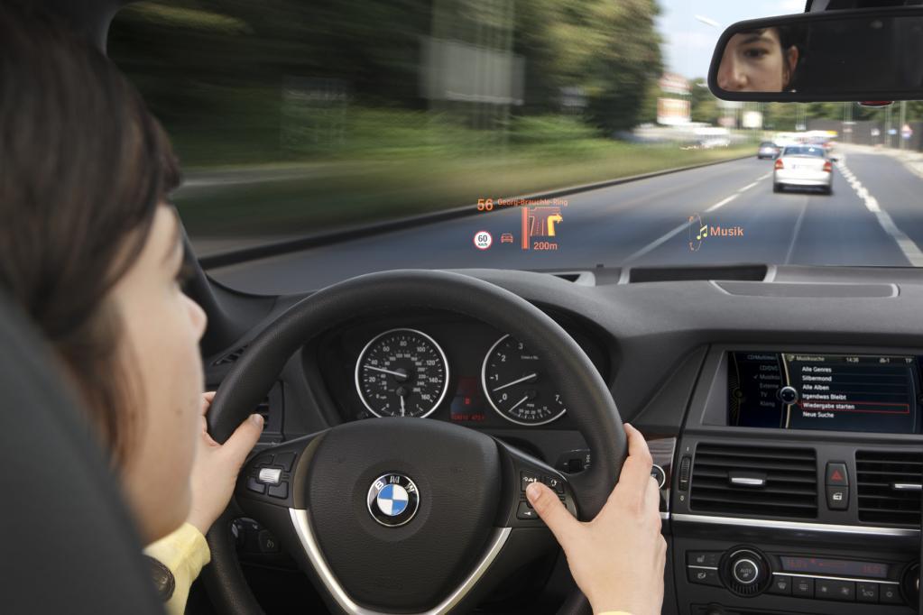 BMW hat als erster europäischer Automobilhersteller ein Head-up-Display ins Programm genommen.