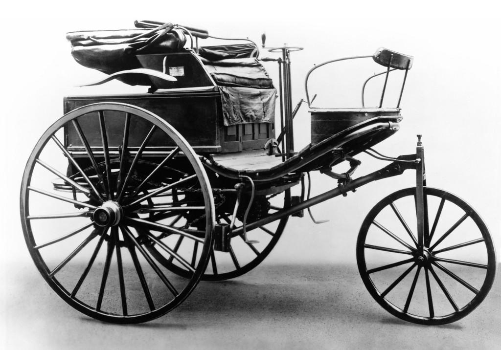 Benz Patent-Motorwagen Typ III: Solch ein Fahrzeug aus dem Jahr 1888 ist heute der älteste bekannte Patent-Motorwagen im Originalzustand.