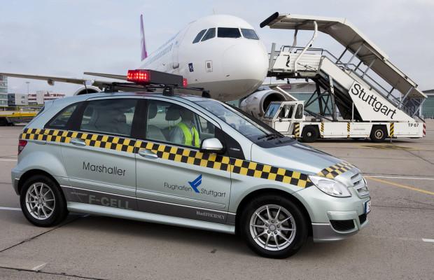 Brennstoffzellen-B-Klasse gibt Flugzeugen die Richtung vor