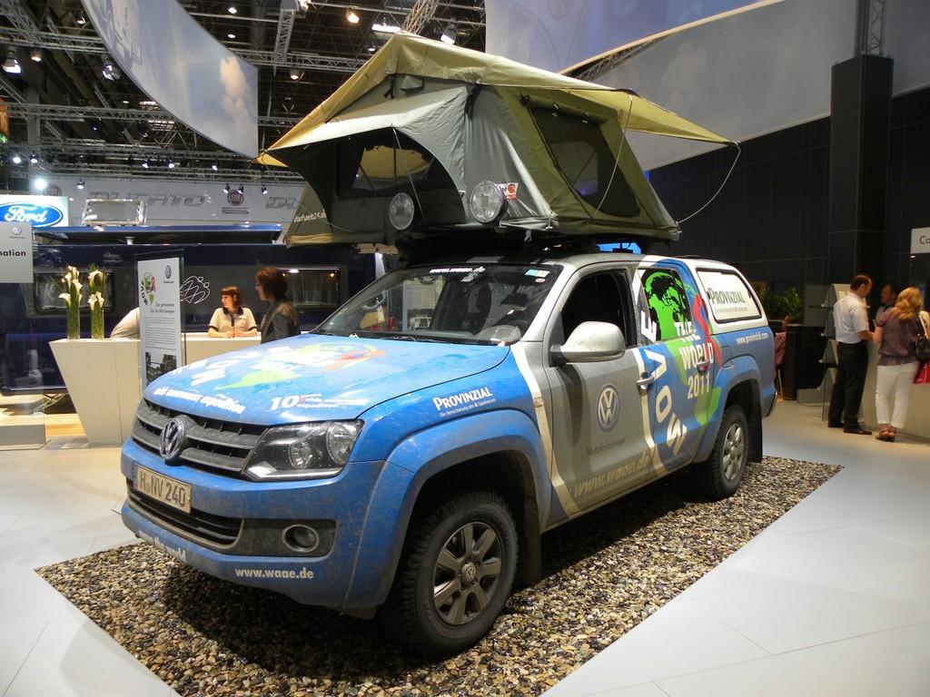 Cavan Salon 2011: 64 452 Kilometer in 110 Tagen legte Joachim Franz mit diesem Volkswagen Amarok zurück.