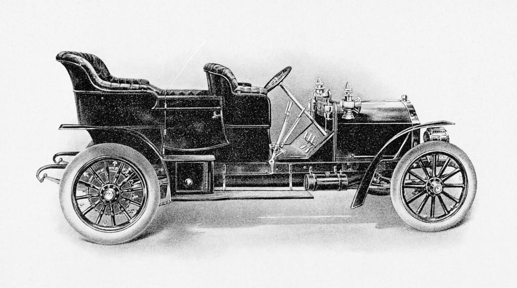 """Der """"American Mercedes"""" wurde von 1905 an in Amerika gebaut. Er ist im Wesentlichen eine Nachfertigung des Mercedes 45 PS."""