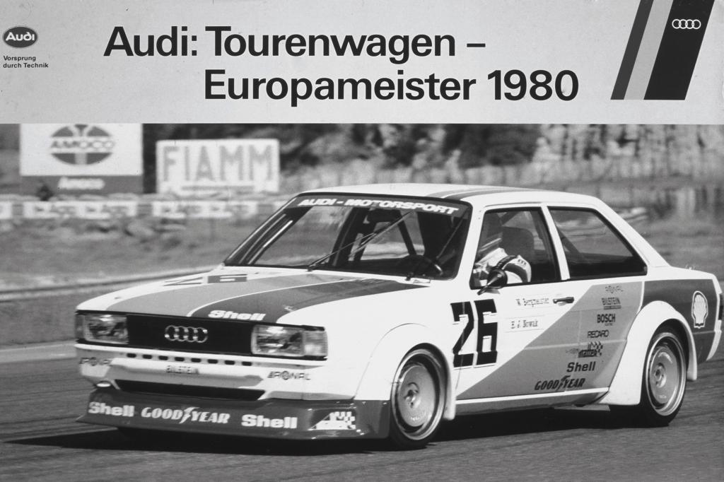Der Audi 80 bei der Tourenwagen Europameisterschaft 1980