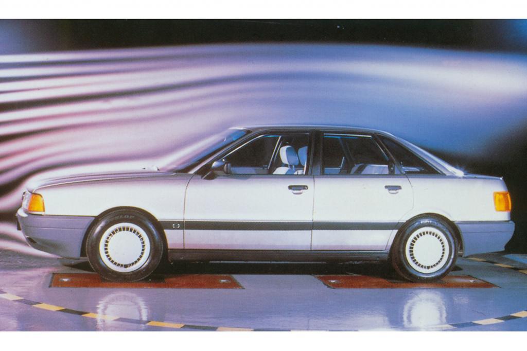 Der Audi 80 von 1986 legte großen Wert auf Aerodynamik