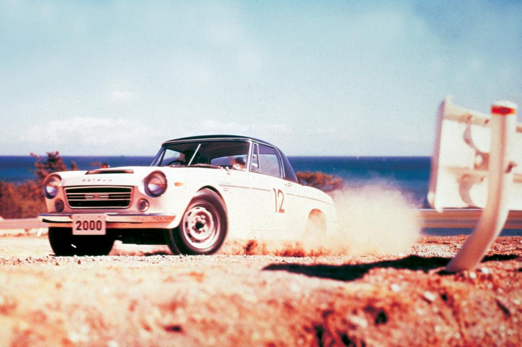 Der Fairlady startete auch bei Rennen und Rallyes