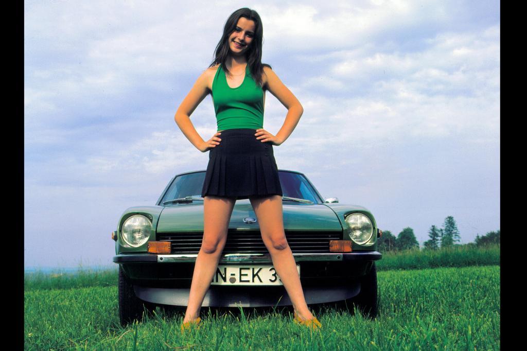 Ein Werbefoto für den 240Z aus den 70ern