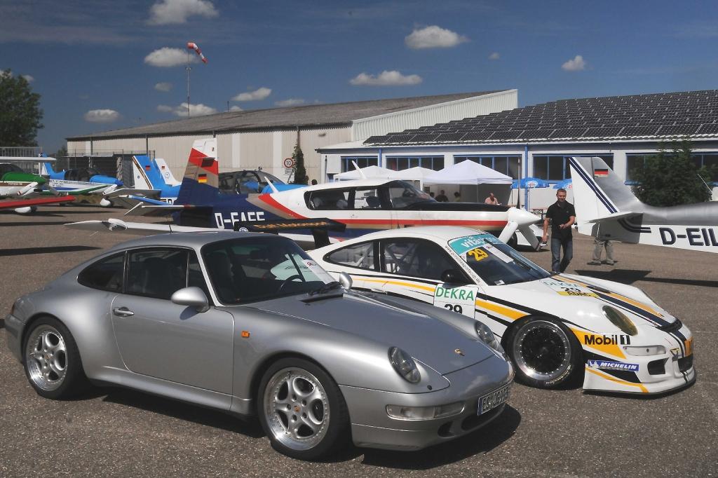 Flug- und Fahrzeuge haben bei Porsche traditionell viel miteinander zu tun.