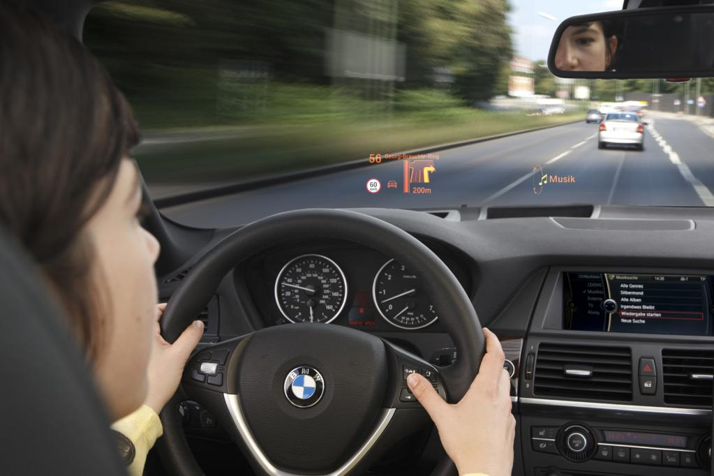 Head-up-Display: Blick auf