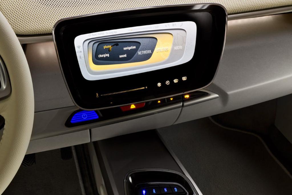 In der Studie gibt es einen zentralen Touchscreen-Bildschirm