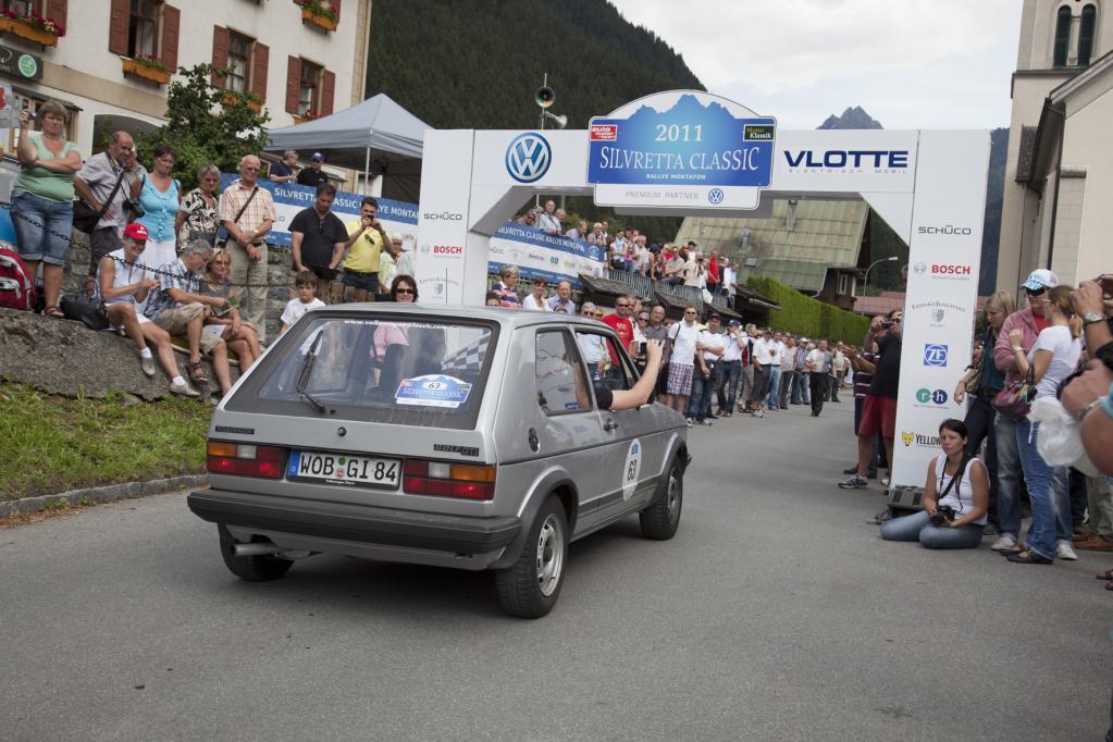In diesem Jahr startete der Golf GTI bei der Silvretta Classic und belegte am Ende den 20. Platz.