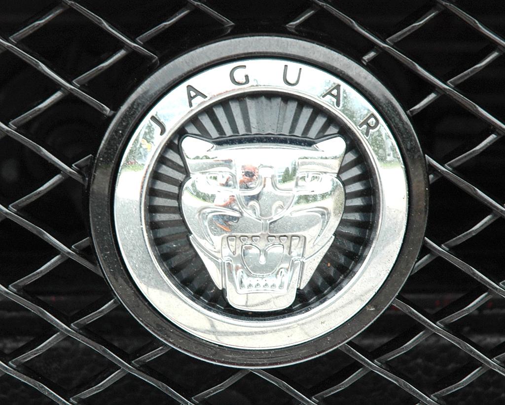 Jaguar XKR Cabrio: Das Raubkatzen-Markenlogo sitzt vorn mittig im Kühlergrill-Oval.