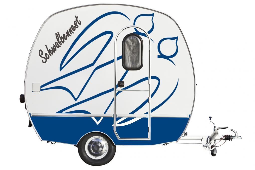 Mit neuem Außendesign zeigt sich der Kult-Wohnwagen Schwalbennest.
