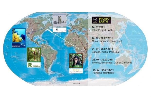 Opels Öko-Weltreise: Das Project Earth