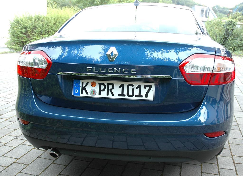 Renault Fluence: Bei dem Mittelklasse-Franzosen handelt es sich um ein Stufenheck-Modell.