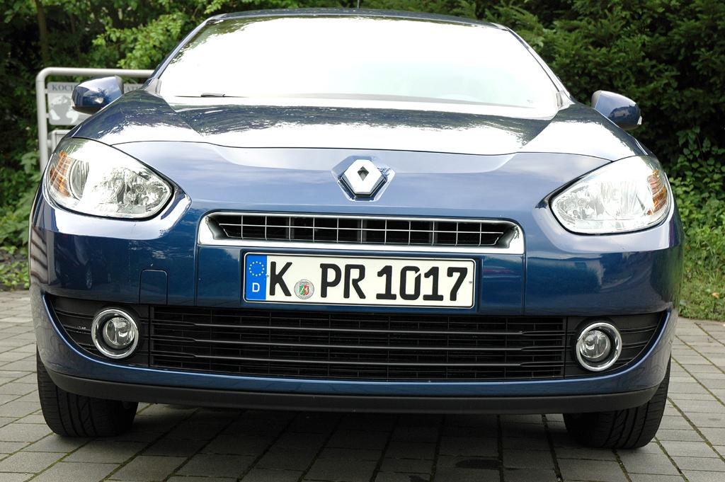 Renault Fluence: Blick auf die Frontpartie.